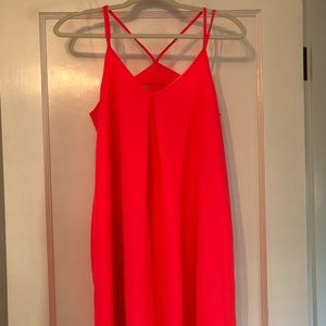 Hot pink mini dress with back cut outs size small